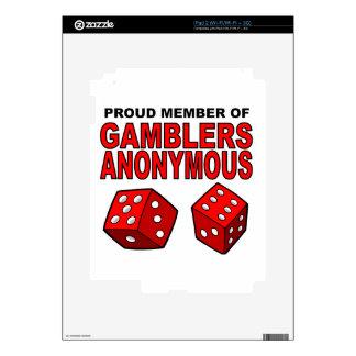 Proud Member of Gamblers Anonymous Skin For The iPad 2