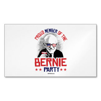 Proud member of the Bernie Party Magnetic Business Cards (Pack Of 25)