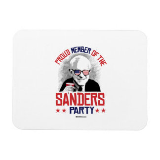 Proud member of the Sanders Party Rectangular Photo Magnet
