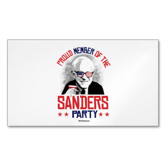 Proud member of the Sanders Party Magnetic Business Cards (Pack Of 25)