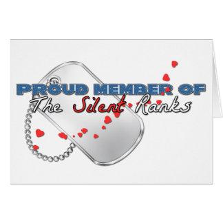 Proud Member of the Silent Ranks Greeting Card
