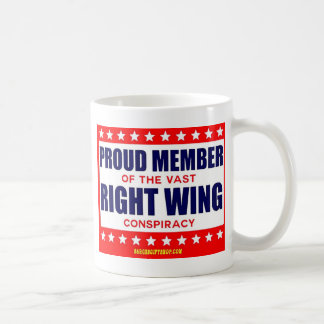 PROUD MEMBER OF THE VAST RIGHT WING CONSPIRACY COFFEE MUG