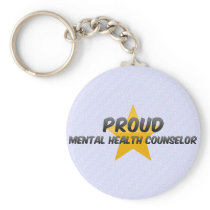 Proud Mental Health Counselor Keychain