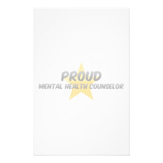 Proud Mental Health Counselor Stationery Design