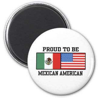 Proud Mexican American 2 Inch Round Magnet