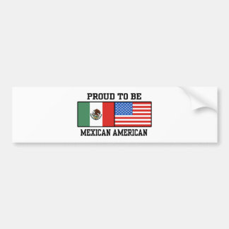 Proud Mexican American Bumper Sticker