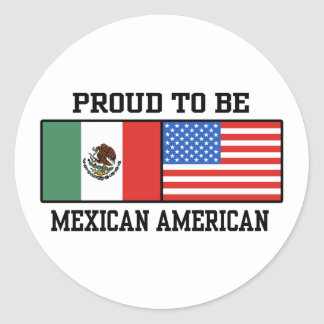 Proud Mexican American Classic Round Sticker