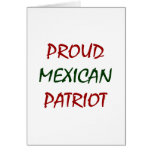 proud mexican patriot greeting card