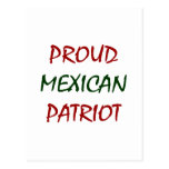 proud mexican patriot post card