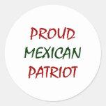 proud mexican patriot sticker