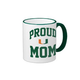 Proud Miami - Gray Ringer Coffee Mug