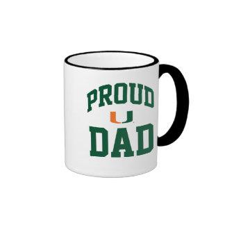 Proud Miami - Green Ringer Coffee Mug
