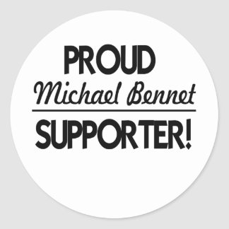 Proud Michael Bennet Supporter Stickers