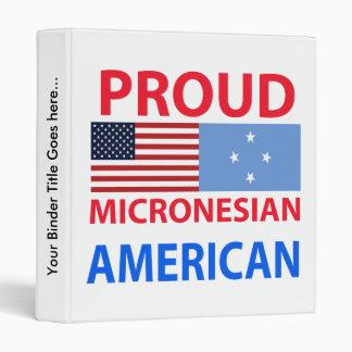 Proud Micronesian American Binder