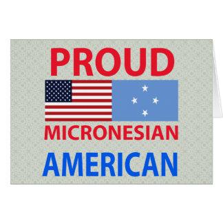 Proud Micronesian American Greeting Card