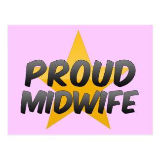 Proud Midwife Postcard