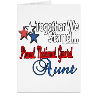 Proud Military Aunt Greeting Card