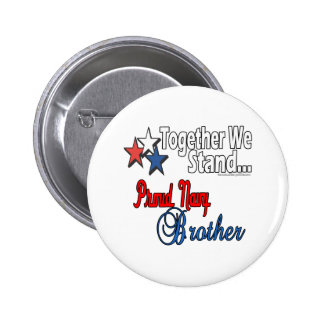 Proud Military Brother Buttons