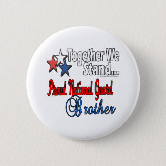 Proud Military Brother Button