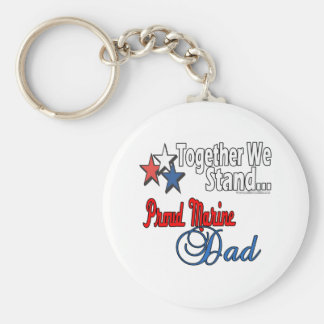 Proud Military Dad Key Chains
