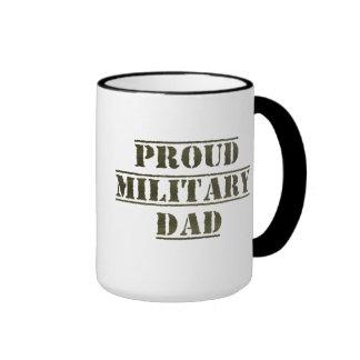 Proud Military Dad Ringer Coffee Mug