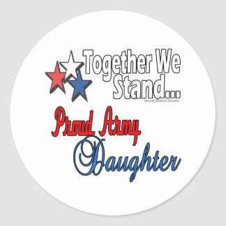 Proud Military Daughter Sticker