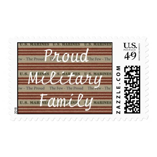 Proud Military Family ( Marine) Postage Stamps