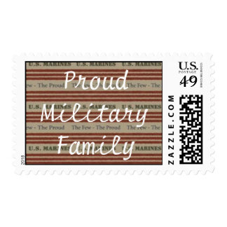 Proud Military Family ( Marine) Postage Stamp