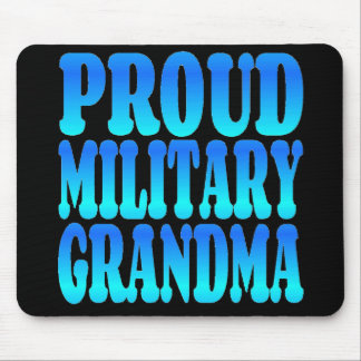 Proud Military Grandma in Blue Mouse Pad
