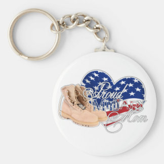 Proud Military Mom Key Chains