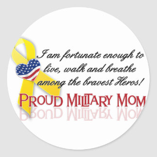 Proud Military Mom Stickers
