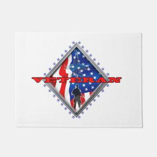 Proud military veteran doormat