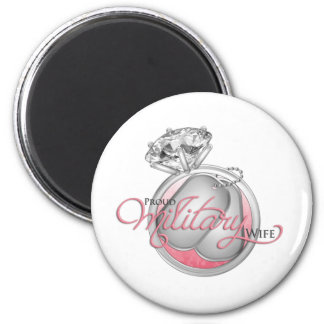 Proud Military Wife 2 Inch Round Magnet