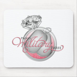 Proud Military Wife Mouse Pad