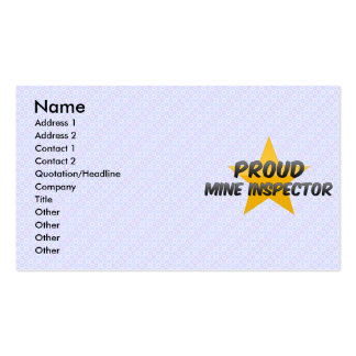 Proud Mine Inspector Double-Sided Standard Business Cards (Pack Of 100)