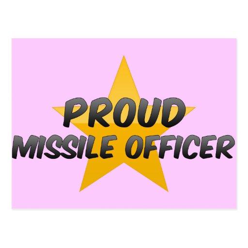 Proud Missile Officer Postcard