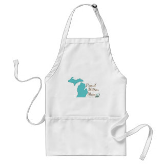 Proud Mitten Mom Adult Apron