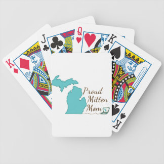 Proud Mitten Mom Bicycle Playing Cards