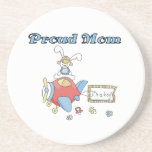 Proud Mom Airplane It's a Boy Gifts Coaster