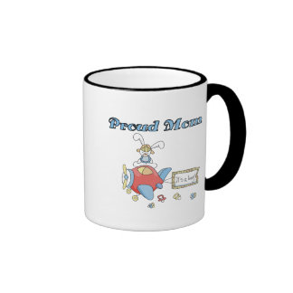 Proud Mom-Airplane It's a Boy tshirts and gifts Ringer Mug