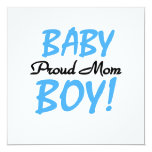 Proud Mom Baby Boy Gifts Invites