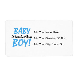 Proud Mom Baby Boy Gifts Shipping Label