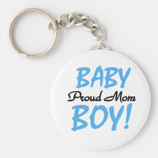 Proud Mom Baby Boy Tshirts and Gifts Basic Round Button Keychain