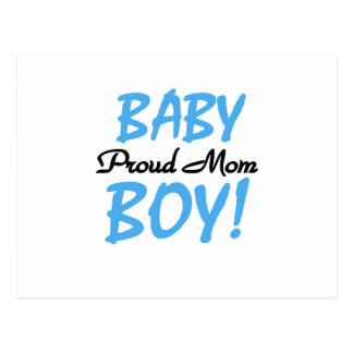 Proud Mom Baby Boy Tshirts and Gifts Postcard