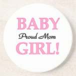 Proud Mom Baby Girl Gifts Coasters