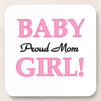 Proud Mom Baby Girl Gifts Drink Coasters