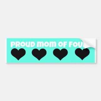 proud mom bumper sticker!  (four kids) bumper sticker