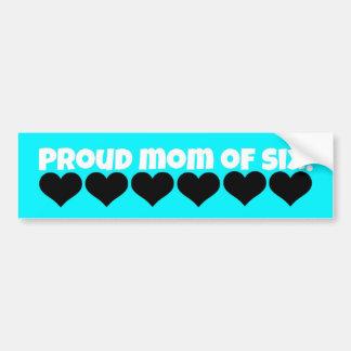 proud mom bumper sticker!  (six kids) bumper sticker