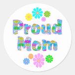 Proud Mom Classic Round Sticker