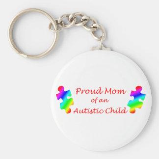 Proud Mom Keychain